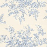 Ralph Lauren Vintage Dauphine Blue / White Wallpaper