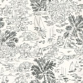 Ralph Lauren Homeport Novelty Black / White Wallpaper