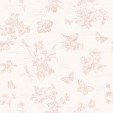 Ralph Lauren Nature Study Toile Pink Wallpaper