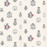 Ralph Lauren Rowthorne Crest Blue / Red / White Wallpaper