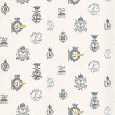 Ralph Lauren Rowthorne Crest Blue / Yellow / White Wallpaper