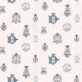 Ralph Lauren Rowthorne Crest Blue / Grey / White Wallpaper