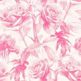 Clarke & Clarke Empress Rose Magenta Wallpaper