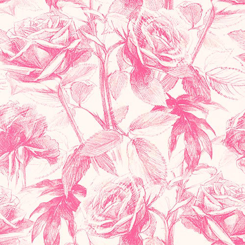 Clarke & Clarke Empress Rose Magenta Wallpaper main image