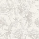 Clarke & Clarke Empress Rose Zinc Wallpaper