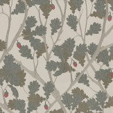 Osborne & Little Feuille De Chene Taupe / Gilver Wallpaper - Product code: W6430-01