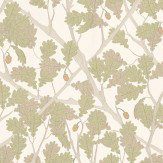 Osborne & Little Feuille De Chene Ivory / Pistachio Wallpaper - Product code: W6430-04
