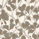 Osborne & Little Feuille De Chene Ivory / Gilver Wallpaper - Product code: W6430-05