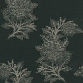 Osborne & Little Ajoure Black / Gilver Wallpaper