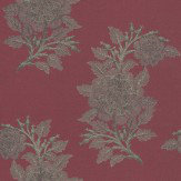 Osborne & Little Ajoure Cranberry / Gilver Wallpaper
