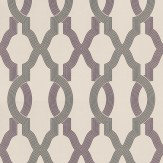 Osborne & Little Cannetille Stone / Blackcurrant  Wallpaper - Product code: W6434-02