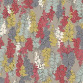 Nina Campbell Fairfields Blackcurrant / Ochre / Red Wallpaper - Product code: NCW4104-04