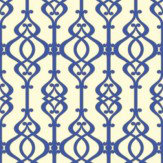 Sophie Conran Balustrade Sapphire Blue / Cream Wallpaper