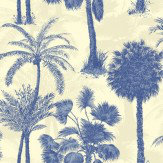 Sophie Conran Coconut Grove Cobalt Wallpaper