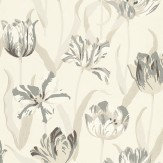 Carlucci di Chivasso Tulipa Charcoal / Off White Wallpaper