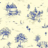 Sophie Conran Lazy Days Delft Blue / Off White Wallpaper