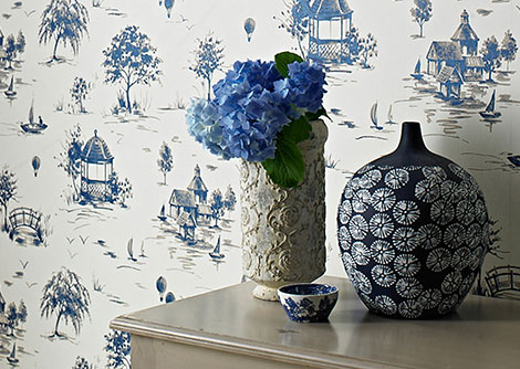 Sophie Conran Lazy Days Delft Wallpaper