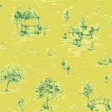 Sophie Conran Lazy Days Lindon Lime Wallpaper