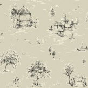 Sophie Conran Lazy Days Mink Black / Beige Wallpaper