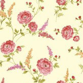 Sophie Conran Posie Crimson Wallpaper