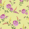 Sophie Conran Posie Pistachio Green / Pink Wallpaper