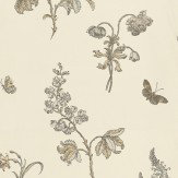 Carlucci di Chivasso Hortus Gallicus Cream / Brown Wallpaper