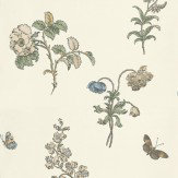 Carlucci di Chivasso Hortus Gallicus Off White / Brown / Blue Wallpaper