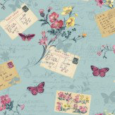 Sophie Conran Postcards Home Blue Haze Wallpaper