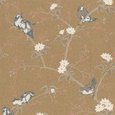 Carlucci di Chivasso Aviarium Metallic Gold Wallpaper
