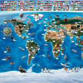 Walltastic Map Of The World Mural