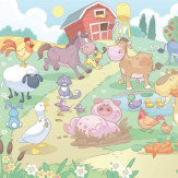 Walltastic Fun On The Farm Mural Multi-coloured - Product code: 40601