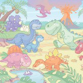 Walltastic Dino World Mural