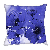 Image of Digetex Cushions Indigo Poppy Cushion, Indigo Poppy
