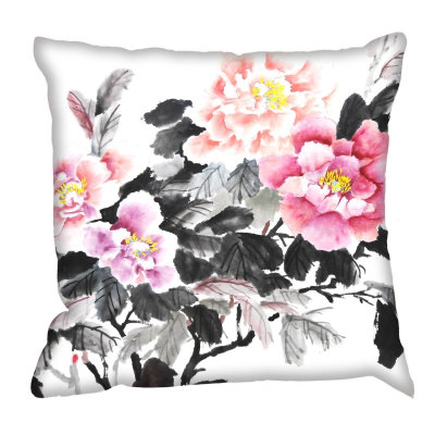 Image of Digetex Cushions Oriental Floral Cushion, Oriental Floral