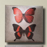 Arthouse Red Metallic Butterflies set Art