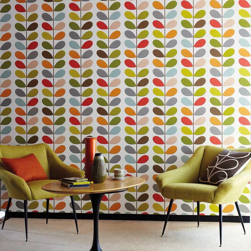 Multi Stem Wallpaper - Original - by Orla Kiely