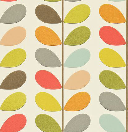 orla kiely multi stem wallpaper sample