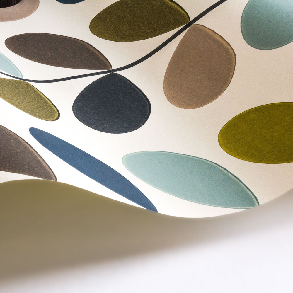 Multi stem by orla kiely seagreen wallpaper direct for Wallpaper direct