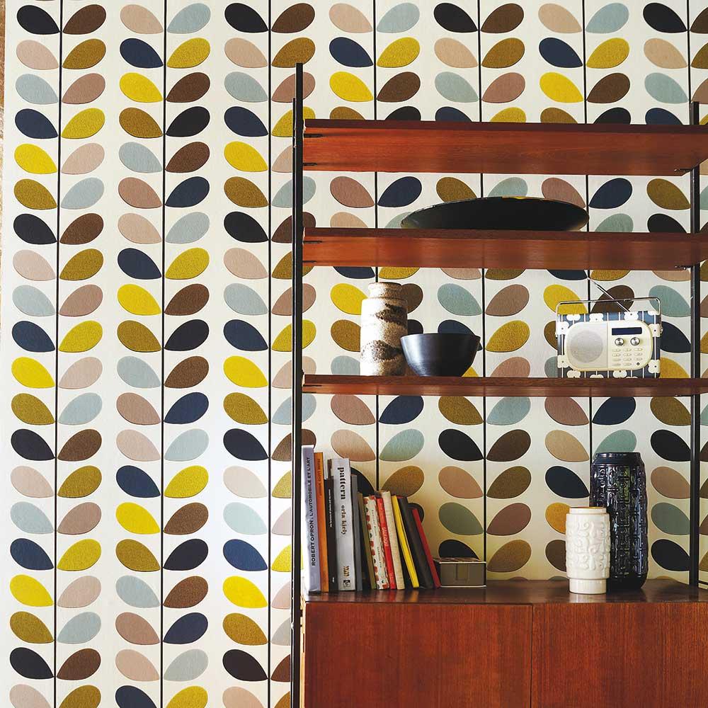 Multi Stem Wallpaper - Seagreen - by Orla Kiely