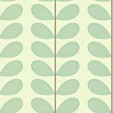 Orla Kiely Classic Stem Duck Egg Wallpaper