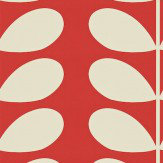 Orla Kiely Giant Stem Red Wallpaper