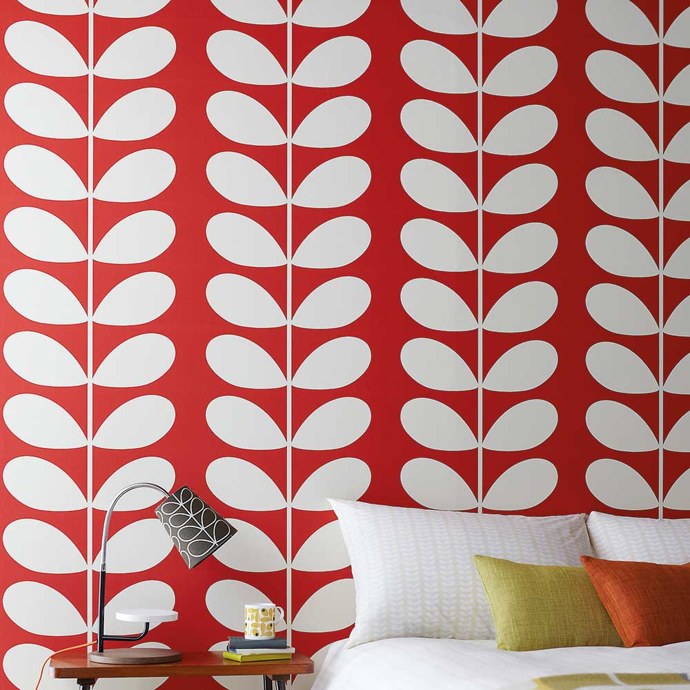 Orla Kiely Giant Stem Red Wallpaper - Product code: 110391