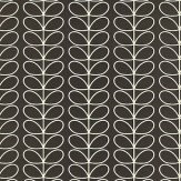 Orla Kiely Linear Stem Black Wallpaper