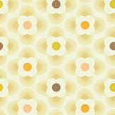 Orla Kiely Multi Striped Petal Yellow Wallpaper