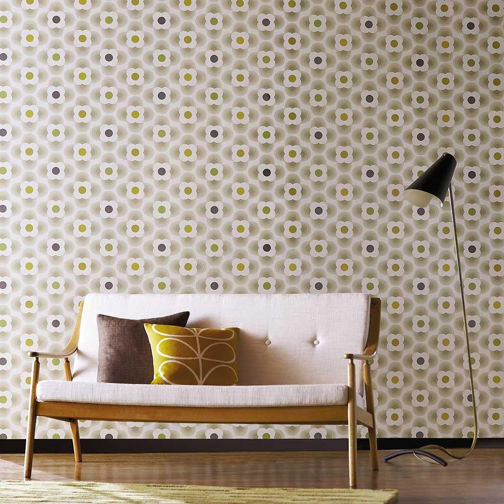 Orla Kiely Multi Striped Petal Beige Wallpaper - Product code: 110407