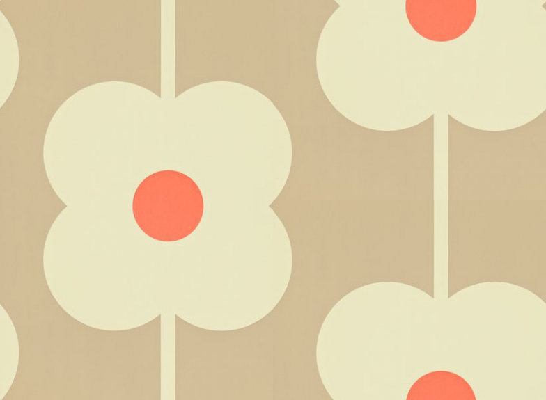 Image of Orla Kiely Wallpapers Giant Abacus Flower, 110408