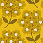 Orla Kiely Giant Rhodedendron Brown / Yellow Wallpaper