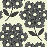 Orla Kiely Giant Rhodedendron Black / Off White Wallpaper
