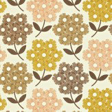 Orla Kiely Rhodedendron Yellow / Brown Wallpaper - Product code: 110414