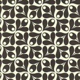 Orla Kiely Small Acorn Cup Black / White Wallpaper